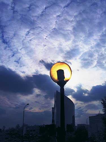 katowice, miasto, latarnia