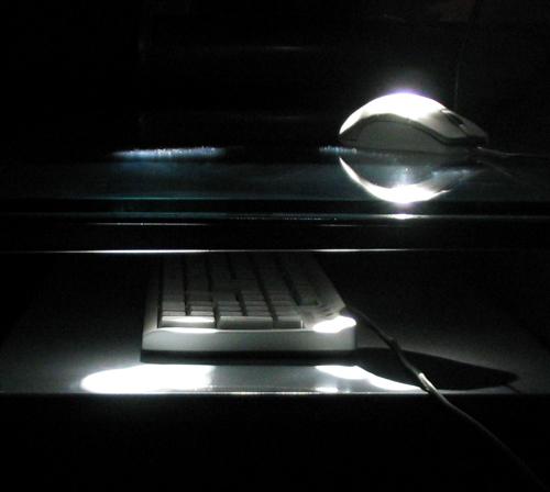 komputer, klawiatura, myszka